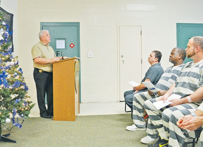 Inmates graduated in a ceremony at Cherokee County Detention Center