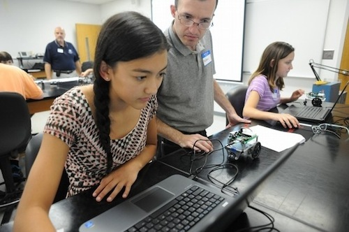 STEM Summer Camp girls