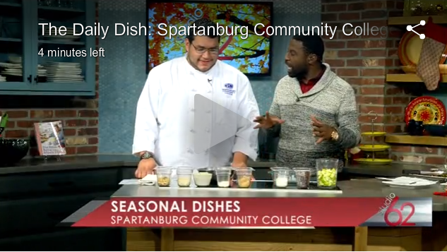 Daily Dish TV show featuring Culinary Student