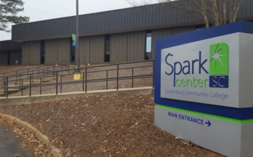 Spark Center SC photo of sign at entrance