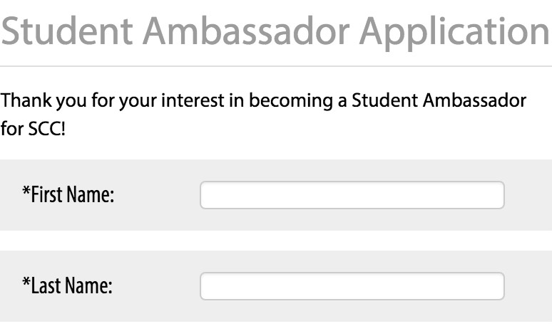 Student Ambassador Application Graphic
